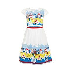 Uttam Kids - Beach hut print dress.