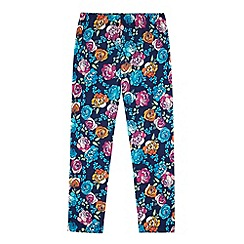 Uttam Kids - Blue Floral Print Leggings