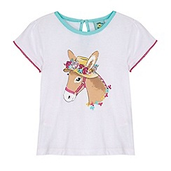 Uttam Kids - White Donkey in a Hat Print T-Shirt