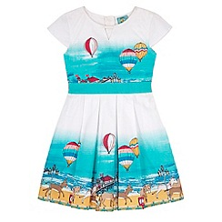 Uttam Kids - White Seaside Border Print Dress