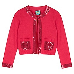 Uttam Kids - Pink Sequin Embellished Cardigan