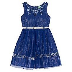 Uttam Kids - Blue Embellished Party Dress