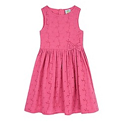 Uttam Kids - Pink Broderie Anglaise Bow Front Dress