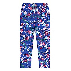 Uttam Kids - Blue Peacock Floral Print Leggings
