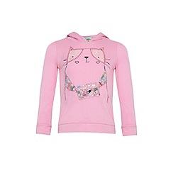 Uttam Kids - Cat applique hooded top