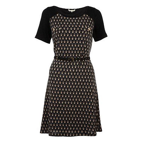 Yumi - Black Diamond print tunic dress