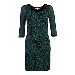 Yumi - Green Floral bodycon dress