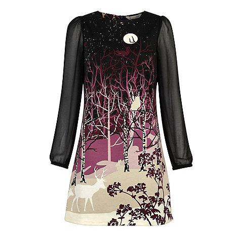 Yumi - Purple Forest silhouette dress