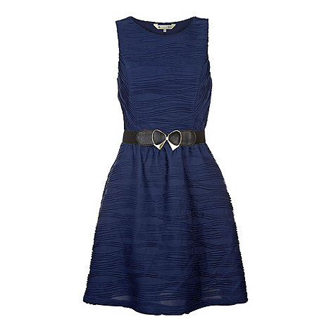 Yumi - Navy Belted party dress