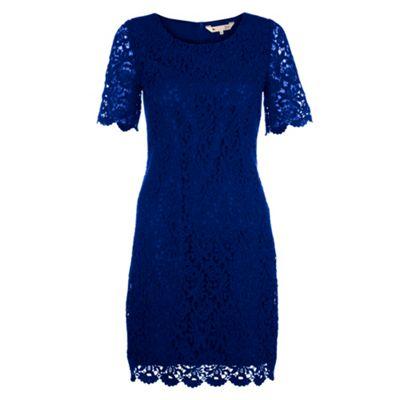 Yumi Blue Classic lace shift dress - 10.  Size - 10
