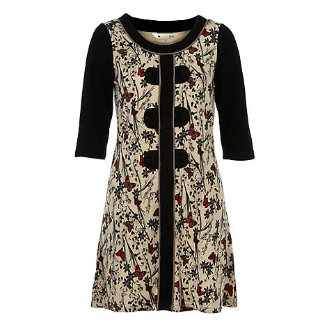Yumi - Black Butterfly tunic dress