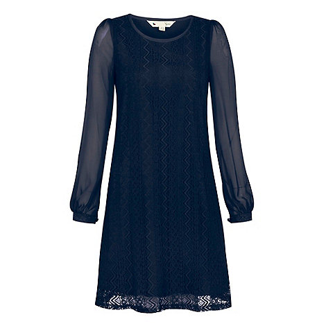 Yumi - Navy Lace shift dress