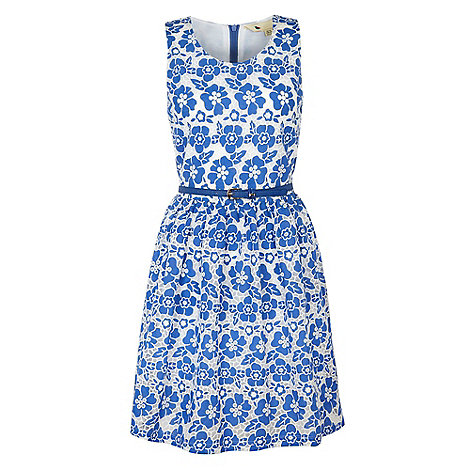 Yumi - Blue 50's floral dress