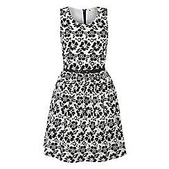 Yumi - Black 50's floral dress