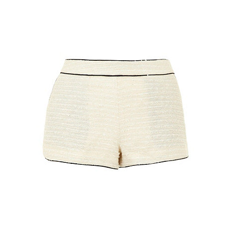 Yumi - Cream Boucle chic chick shorts