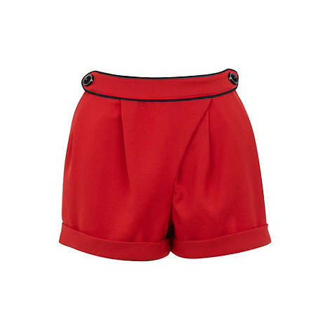 Yumi - Red Nautical wrap shorts