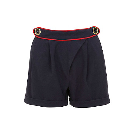 Yumi - Navy Nautical wrap shorts