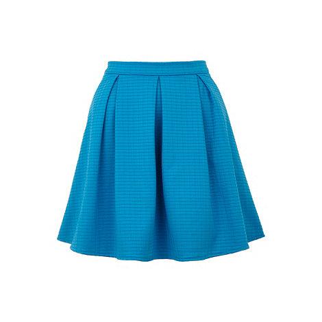 Yumi - Blue Grid skater skirt