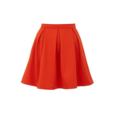 Yumi - Orange Grid skater skirt