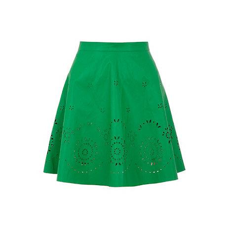 Yumi - Green Cut-out skater skirt