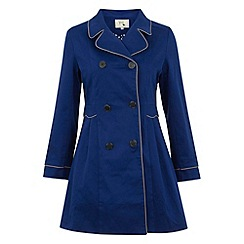 Yumi - Blue Dotty doll trench