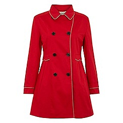 Yumi - Red Dotty doll trench