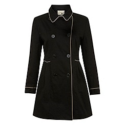Yumi - Black Dotty doll trench