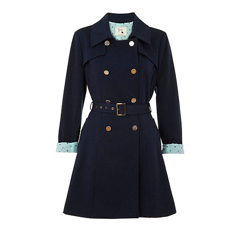 Yumi - Navy Preppy stretch trench