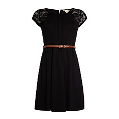 Yumi - Pleat front lace dress.