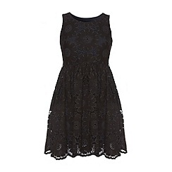 Yumi - Black Pretty petal dress