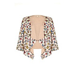 Yumi - Stamp print waterfall jacket