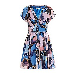 Yumi - Pansy print tea dress