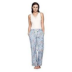 Yumi - Blue Floral Pyjama Trousers
