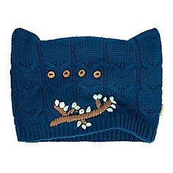 Yumi - Blue Embroidered Owl Knitted Hat