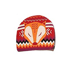 Yumi - Red fox print beanie hat