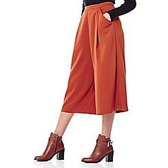 Yumi - tan Culotte Trousers With Wide Leg