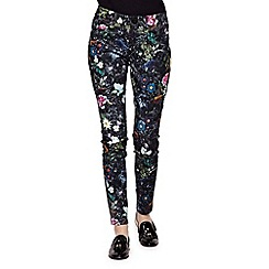 Yumi - multicoloured  Skinny Jeans With Floral Print