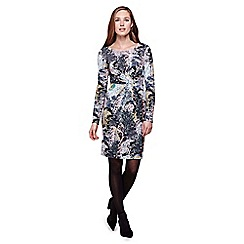 Yumi - multicoloured  Tree Printed Jersey Dress