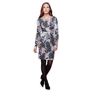 Yumi multicoloured  Tree Printed Jersey Dress