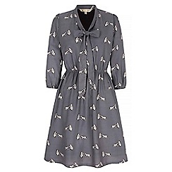 Yumi - Grey Dress With Polar Bear Print