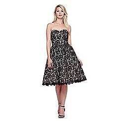 Yumi - black Laced Prom Dress
