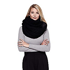 Yumi - Black Chunky Knit Snood With Faux Fur