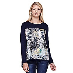 Yumi - blue Tree Printed Jumper