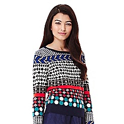 Yumi - multicoloured  Knitted Jacquard Jumper
