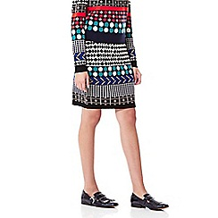 Yumi - Multicoloured  Knitted Jacquard Skirt