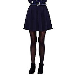 Yumi - blue Flared Belt Skirt