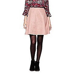 Yumi - pink Suedette Flared Skirt