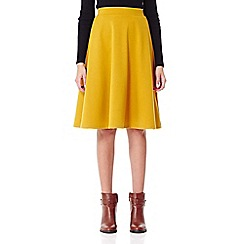 Yumi - yellow Midi Skater Skirt