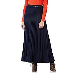 Yumi - blue Jersey Maxi Skirt With Pleats