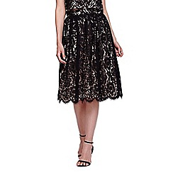 Yumi - black Laced Midi Skirt